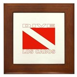 Dive Los Cabos Framed Tile