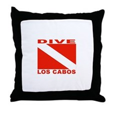 Dive Los Cabos Throw Pillow