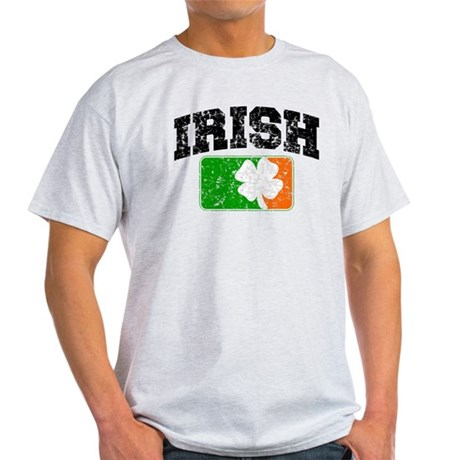 Distressed Irish Flag Logo Light T-Shirt