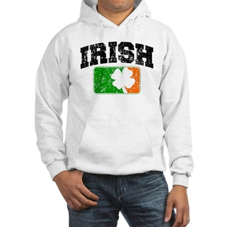 Distressed Irish Flag Logo Hooded Sweatshirt