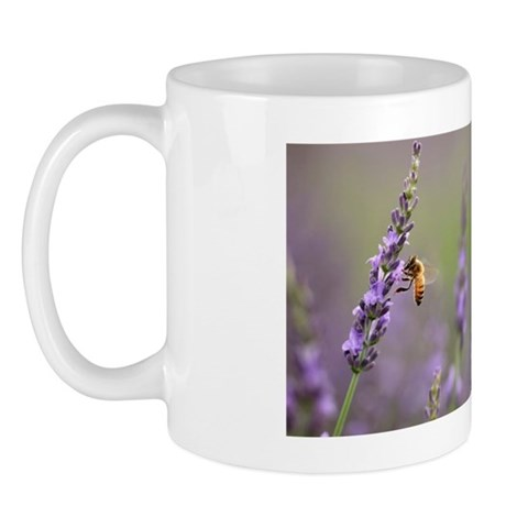 Honeybee on Lavender Mug