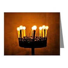 religious lighting in a chur Note Cards (Pk of 10)