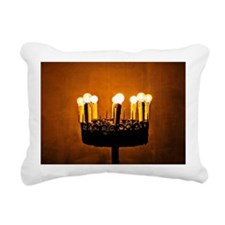 religious lighting in a  Rectangular Canvas Pillow