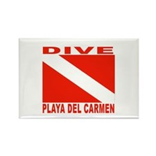 Dive Playa Del Carmen Rectangle Magnet