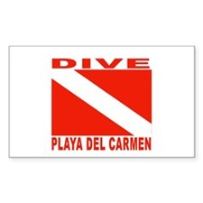 Dive Playa Del Carmen Rectangle Decal