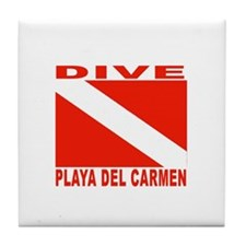 Dive Playa Del Carmen Tile Coaster