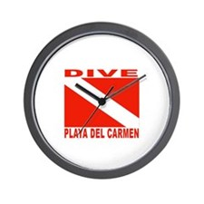 Dive Playa Del Carmen Wall Clock
