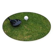 Still life of golf club and ball on Decal