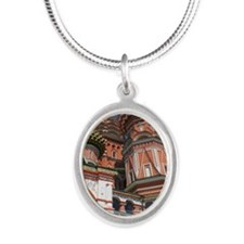 St. Vassily Blajeny Silver Oval Necklace