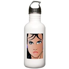 Pop Art Girl Paulina Water Bottle