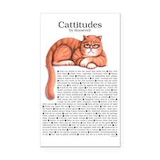Cattitudes 23x35 Rectangle Car Magnet