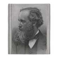 James Clerk Maxwell, Scottish physic Throw Blanket