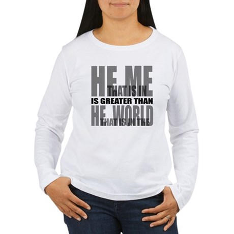 He is Greater Women's Long Sleeve T-Shirt