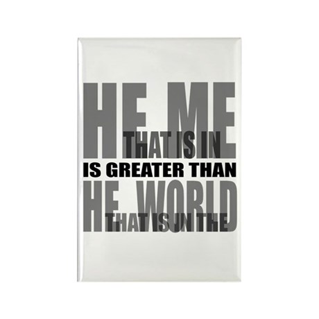 He is Greater Rectangle Magnet (10 pack)