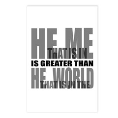 He is Greater Postcards (Package of 8)