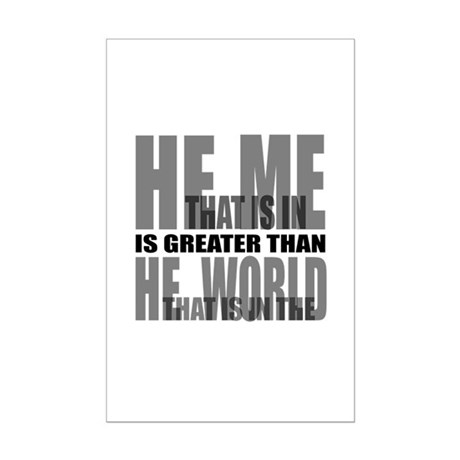 He is Greater Mini Poster Print