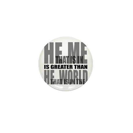 He is Greater Mini Button (100 pack)