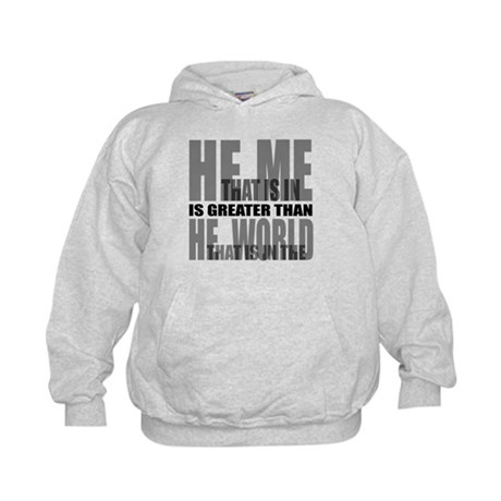He is Greater Kids Hoodie