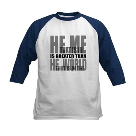 He is Greater Kids Baseball Jersey
