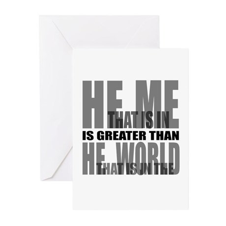 He is Greater Greeting Cards (Pk of 10)