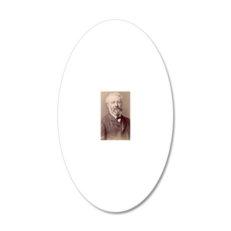 Jules Verne, French novelist 20x12 Oval Wall Decal