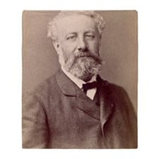 Jules Verne, French novelist Throw Blanket