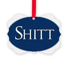 Shitt Sticker Ornament