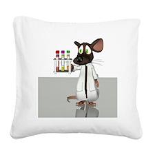 Laboratory mouse, conceptual  Square Canvas Pillow
