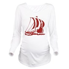 norseShip1A Long Sleeve Maternity T-Shirt