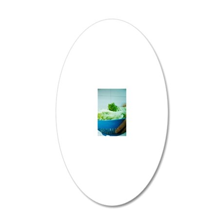 Lettuce leaves 20x12 Oval Wall Decal