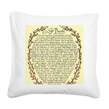 DESIDERATA Poem Square Canvas Pillow