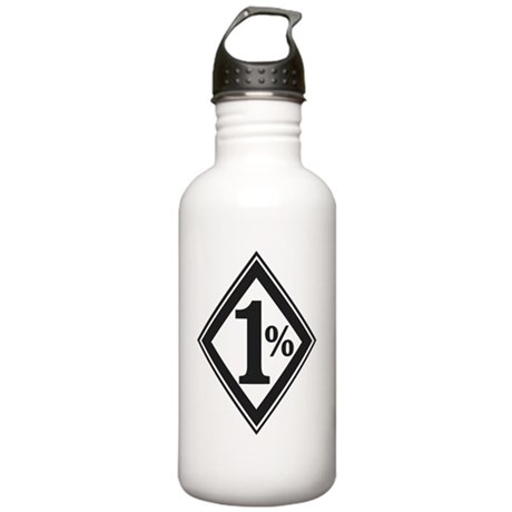 One Percent Biker Symb Stainless Water Bottle 1.0L