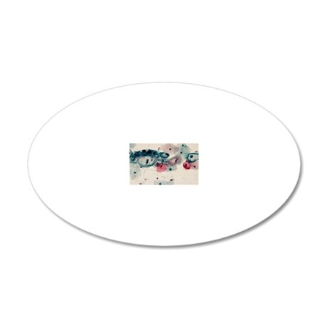 LM of cervical smear reveali 20x12 Oval Wall Decal