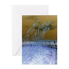 Blue Sea Oats Greeting Card