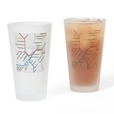 LA Metro map Drinking Glass
