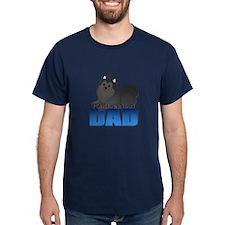 Black Pomeranian Dad T-Shirt