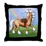 Saddle Squeaks Throw Pillow