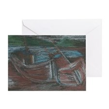 boats in Scotland Greeting Card
