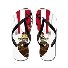 Vikings and Longship Flip Flops
