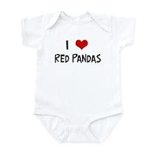 I Love Red Pandas Infant Bodysuit
