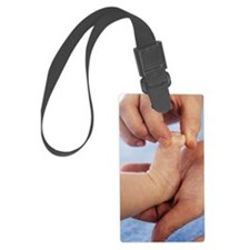 Massaging baby toes Luggage Tag