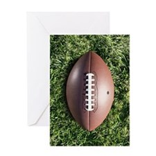 American football on grass Greeting Card