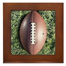 American football on grass Framed Tile