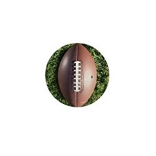 American football on grass Mini Button