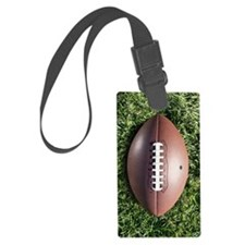American football on grass Large Luggage Tag