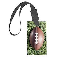 American football on grass Luggage Tag