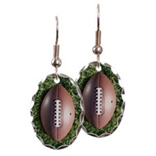 American football on grass Earring