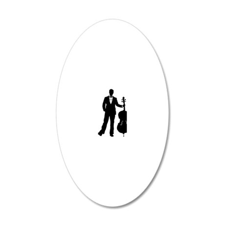 Cello-Player-09-a 20x12 Oval Wall Decal