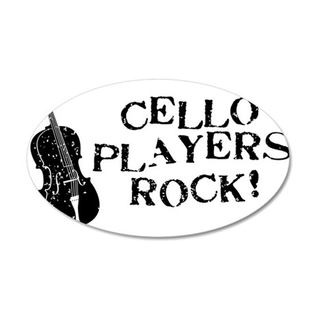 Cello-Players-Rock-01-a 35x21 Oval Wall Decal