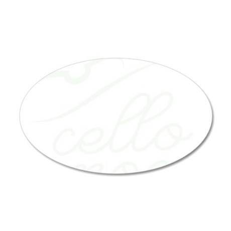 Cello-Mom-01-b 35x21 Oval Wall Decal